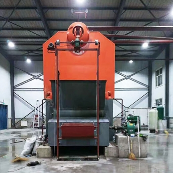 8tons/hr SZL series coal biomass fired steam boiler is located in Bangladesh