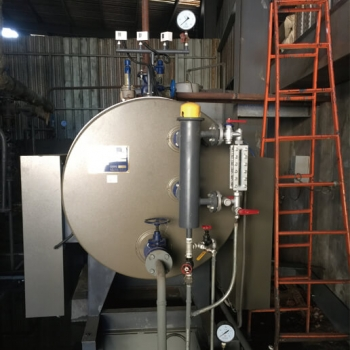1tons/h electric steam boiler, WDR1-1.0-D used in Uganda for food processing