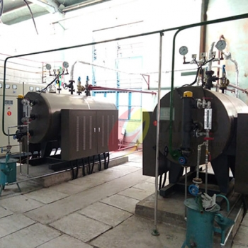 TAIGUO 1.5TON/H Electric Steam Boiler WDR1.5-1.0-D is Working for Chemical Process in Chile
